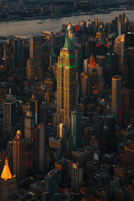 Empire State Building New York from above