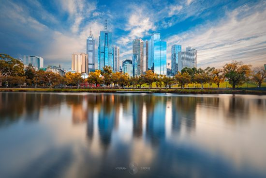 melbourne_blue_photo_print