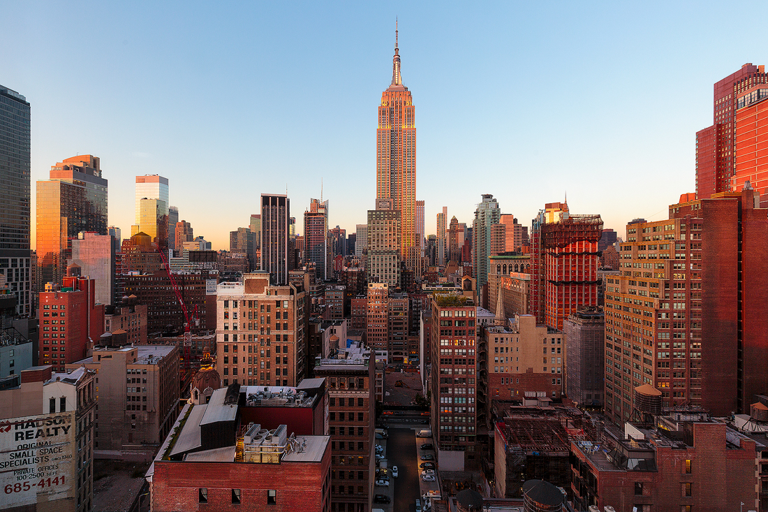 New York's vast metropolis with the Empire State Building.