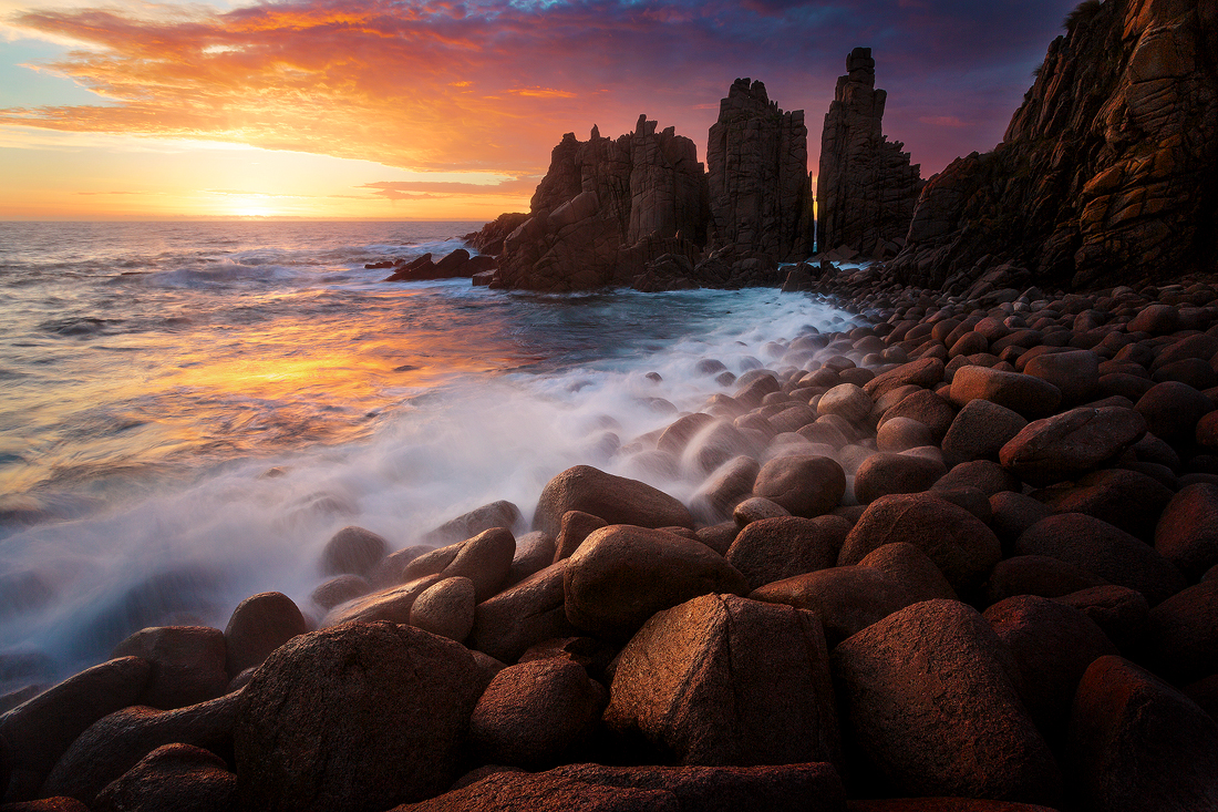 Sunset at the Pinnacles on Phillip Island