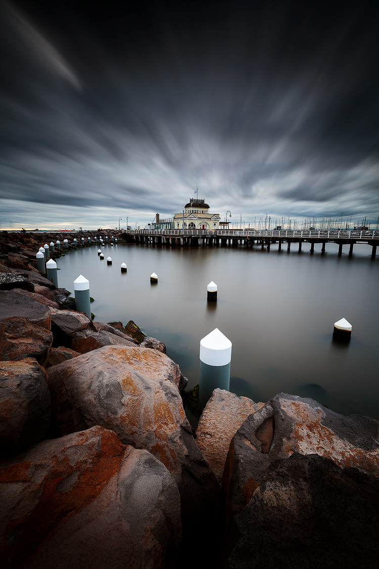 A moody end to the day at St Kilda
